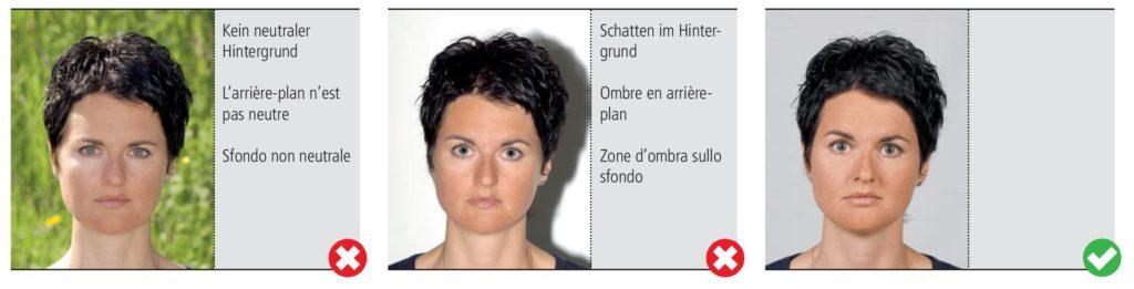 Le fond de la photo d'identité et passeport doit être de couleur unie, mais pas blanc.
