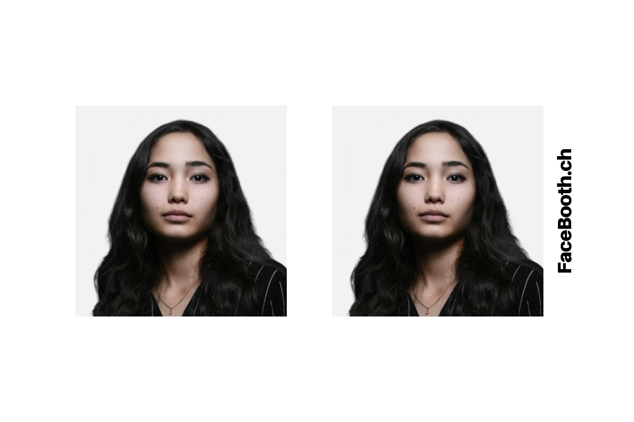 Exemple de planche : 2 photos visa taille 5cm x 5cm